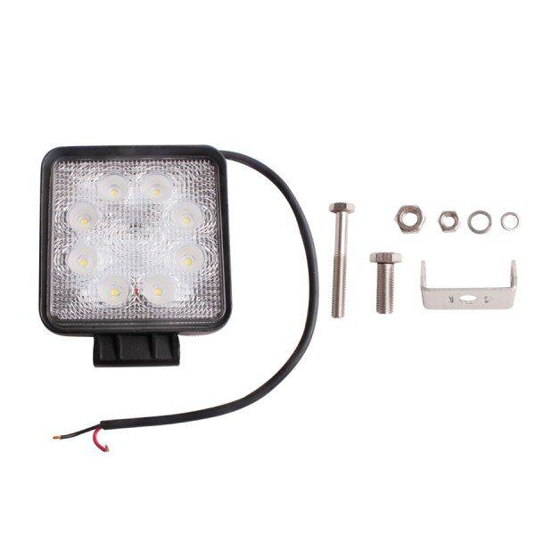 2pcs 27W flood Led Work Spot Round Light Offroads Lamp 12v 24v truck 4x4 Boat Lamp