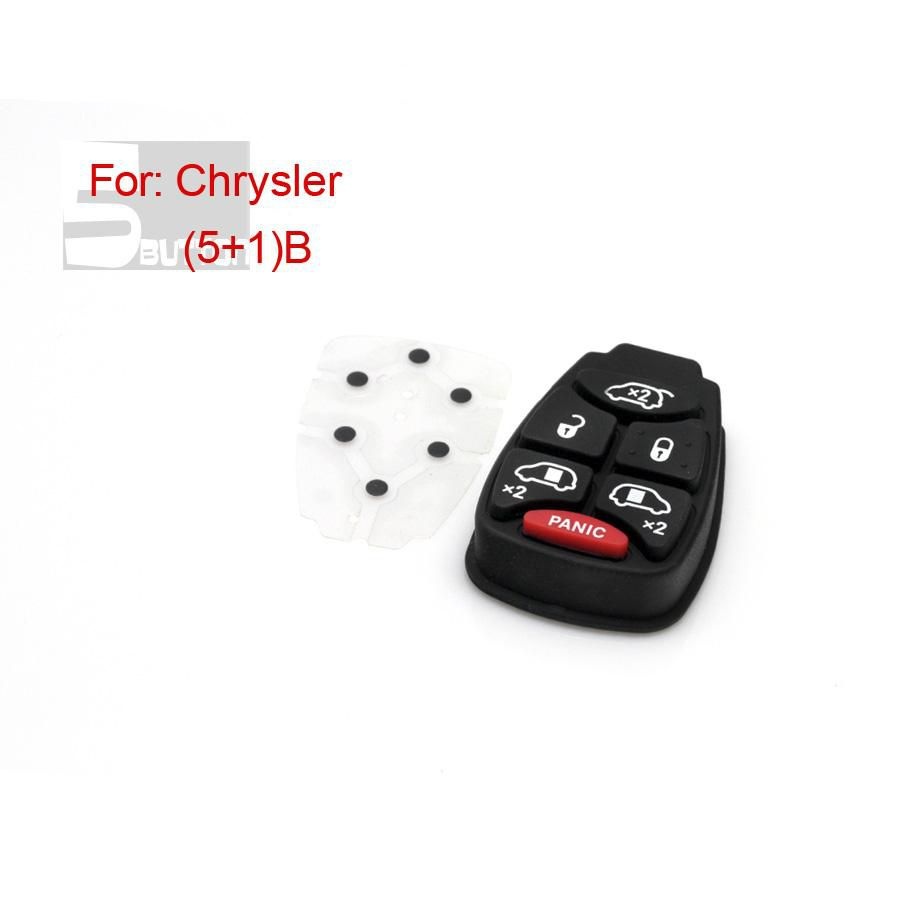 5+1 Button Remote Key Rubber (Small Button) for Chrysler 5pcs/lot