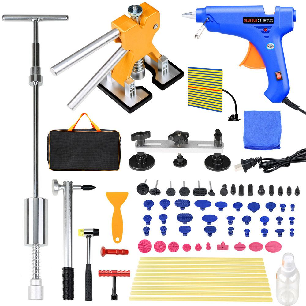 81PCS PDR Dent Lifter Tools Kit Paintless Hail Repair Slide Hammer Puller Tab
