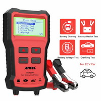 ANCEL BST100 Car Battery Charger Tester Analyzer 12V 2000CCA Voltage Battery Test Car Charging Circut load Tester Tools PK KW600