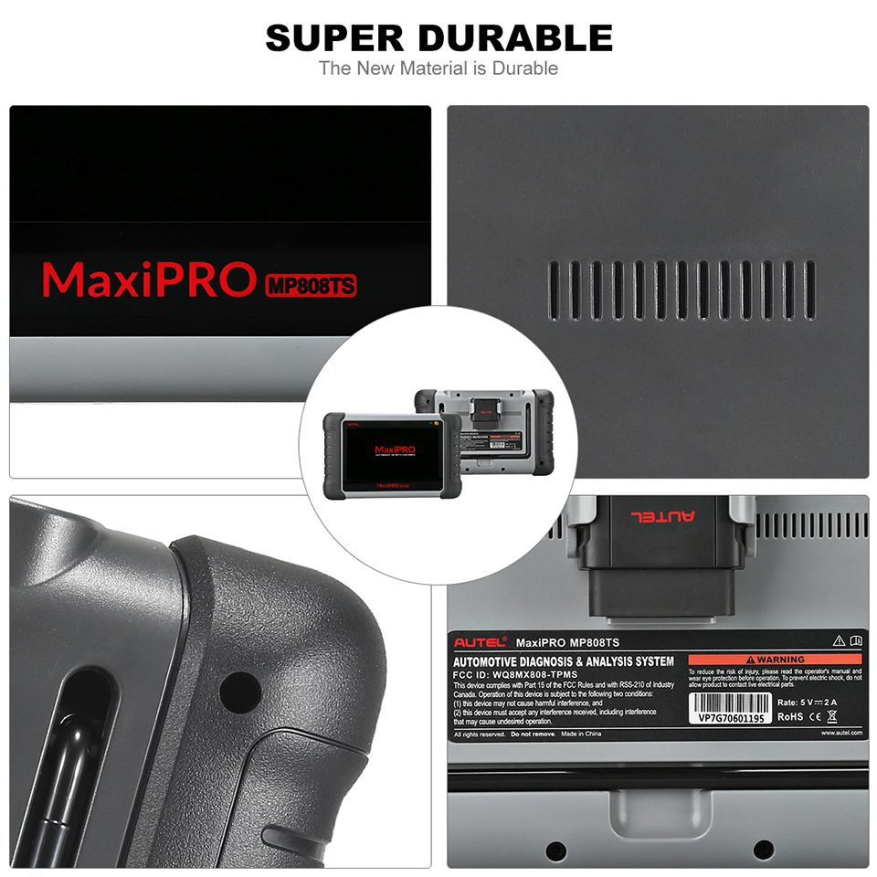 Autel MaxiPRO MP808TS Automotive Diagnostic Scanner with TPMS Service Function and Wireless Bluetooth (Prime Version of Maxisys MS906TS)