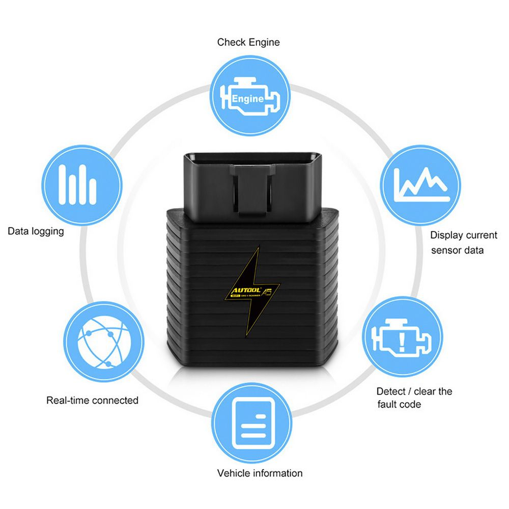 AUTOOL A5 WIFI Bluetooth ELM327 OBD2 OBDII Scanner Car Engine Code Reader Auto Diagnostic Tool Adaptor For Android IOS