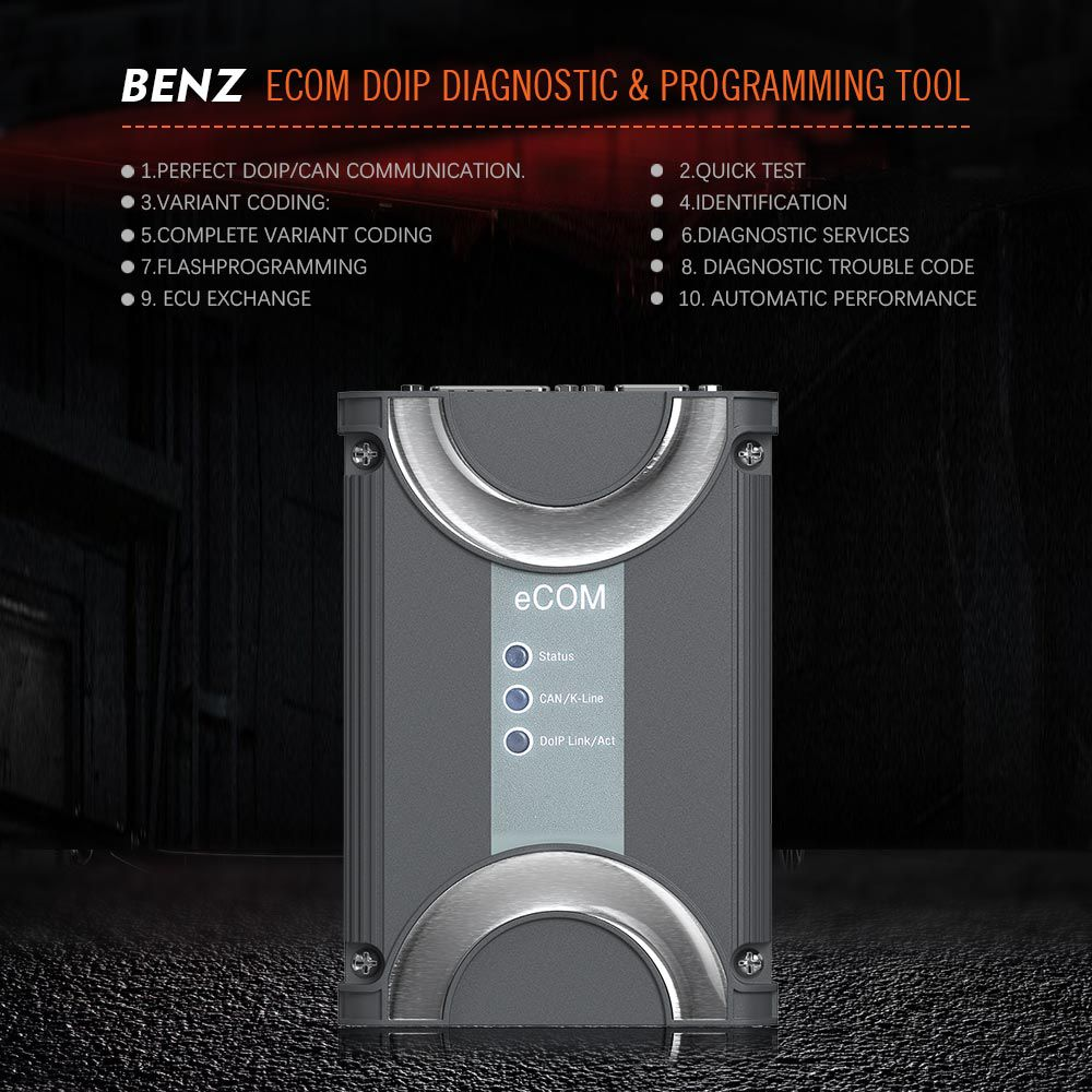 BENZ ECOM DoIP Diagnostic and Programming Tool with USB Dongle for Latest Mercedes Till 2019