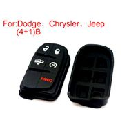Button Rubber 4+1Button (Use for Dodge Chrysler Jeep) 5pcs/lot