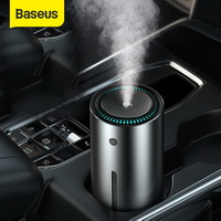 Car Air Humidifier Aluminium Alloy 300mL With LED Light For Auto Armo Home Office Accessories Car Air Humidifier