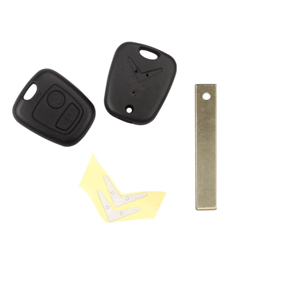 Remote Key Shell 2 Button (With Groove) For Citroen 5pcs/lot