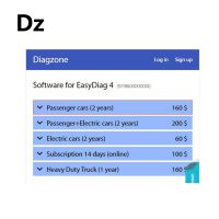 Diagzone Software Open Software Subscription Passenger cars (2 years) Thinkcar Thinkdiag Old boot Easydiag Golo pro