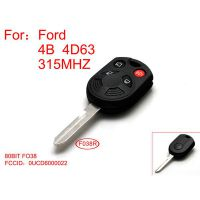 Remote Key 4D63-80BIT 4 Button 315mhz For Ford