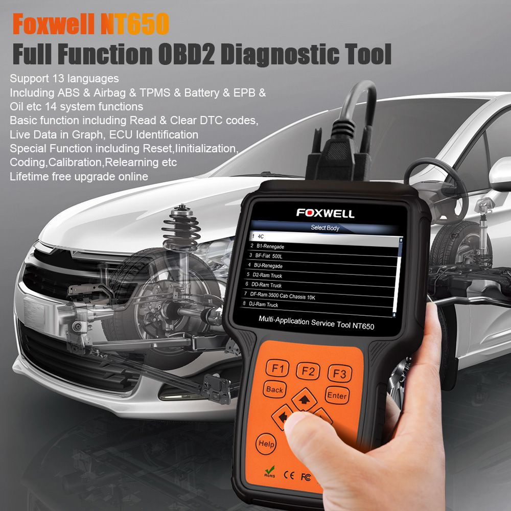 FOXWELL NT650 OBD2 Scanner