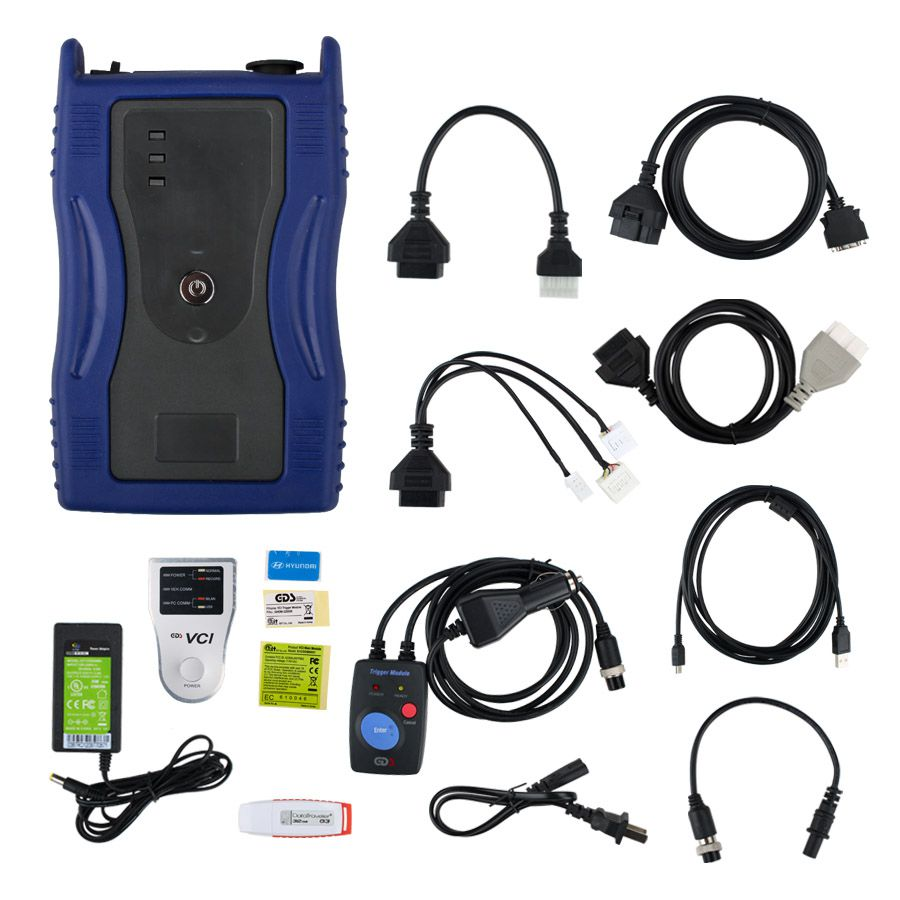 GDS VCI for KIA & HYUNDAI with Trigger Module Firmware V2.02 Software V19 Blue Version
