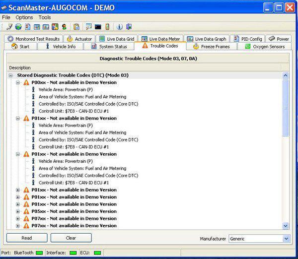 AUGOCOM MINI ELM327 Bluetooth OBD2 Hardware V1 5 Software V2 1