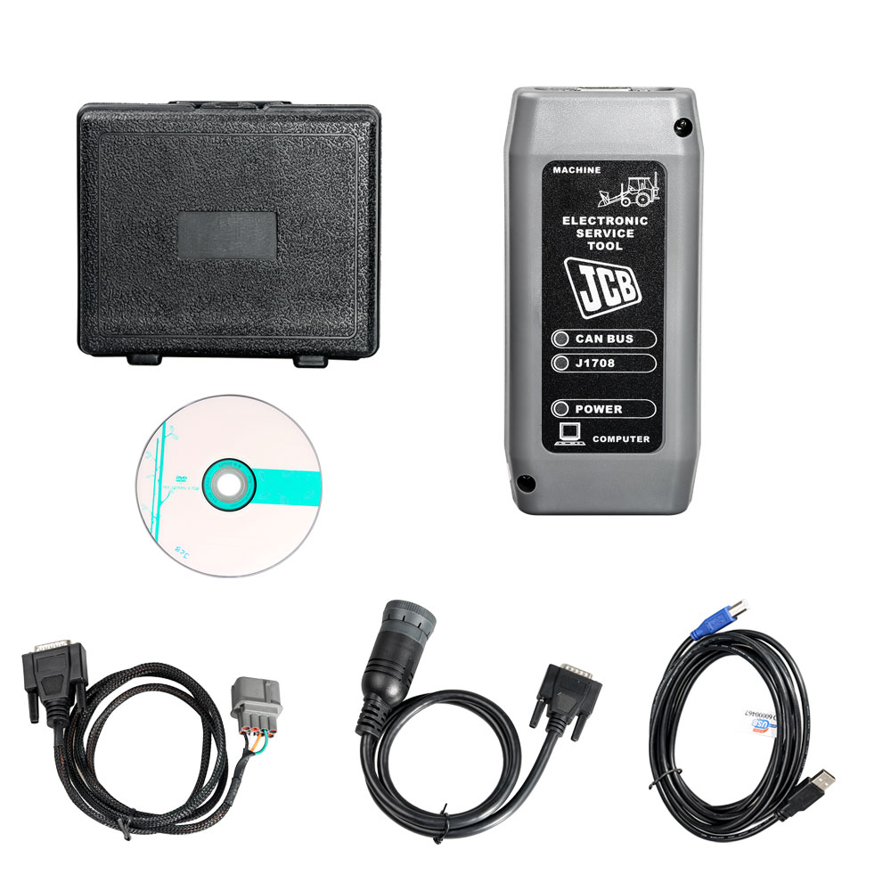 JCB Electronic Service Tool SM4.1.45.3 Multi Language Diagnostic Interface