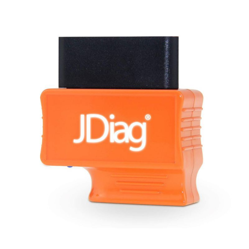 JDiag Bluetooth OBD2 Scanner Code Reader Faslink M2 Professional Vehicle Diagnostic Tool Compatible iPhone & Android (Orange)