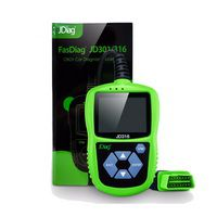 JDiag JD316 OBD2 Scanner Automotive Engine Fault Code Reader CAN Diagnostic Scan Tool (Green)