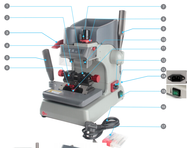 JINGJI L2 Vertical Key Cutting Machine-1