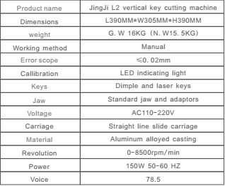 JINGJI L2 Vertical Key Cutting Machine-2