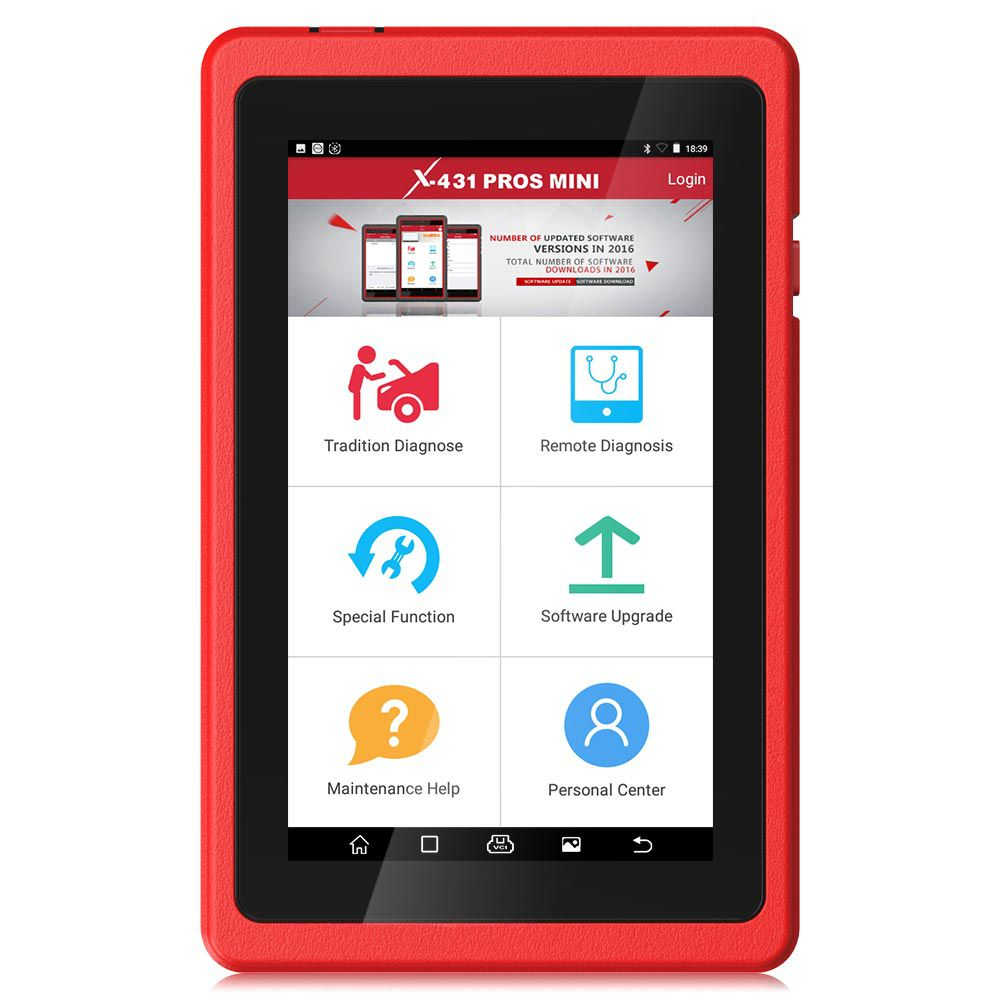 Launch X431 ProS Mini Android Pad Multi-System Multi-brand Diagnostic & Service Tool Free Update Online for 2 Years