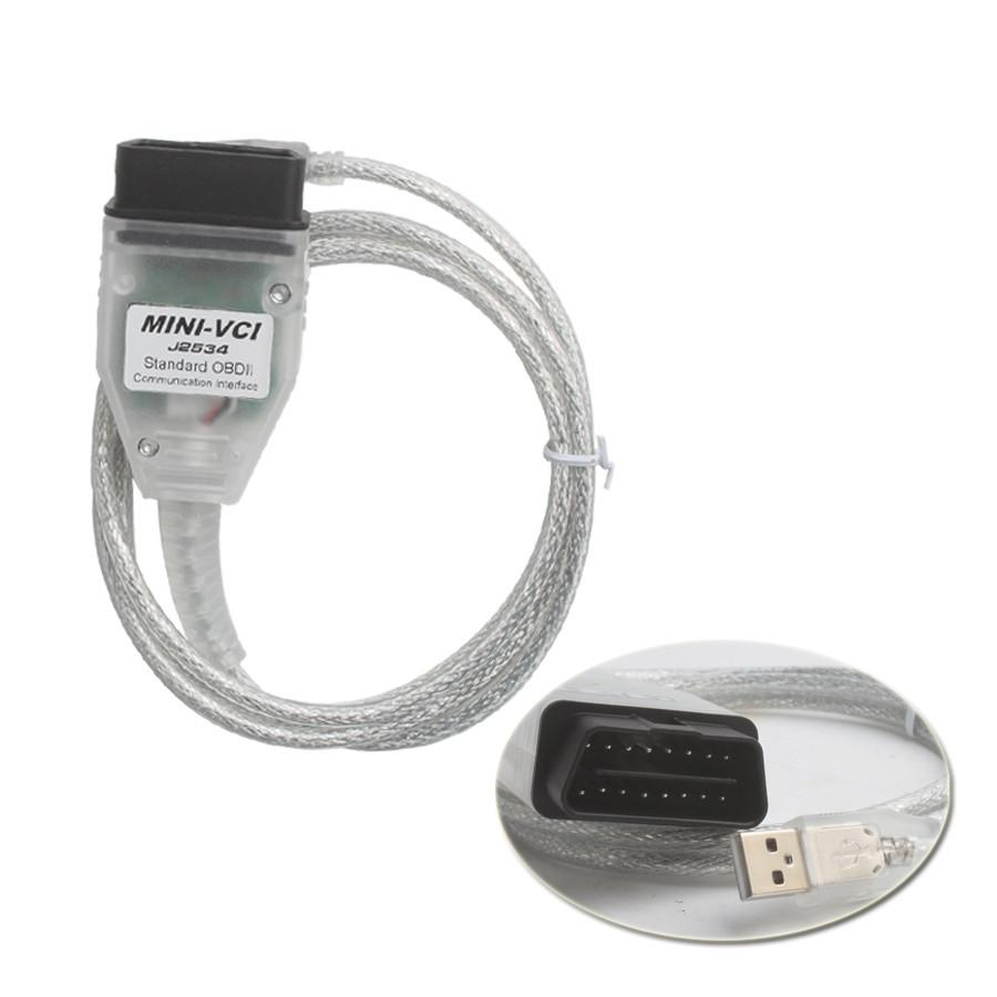 MINI VCI J2534 FOR TOYOTA TIS Techstream Firmware V2.0.4 Software V15.00.026 Single Cable Support VPW protocol