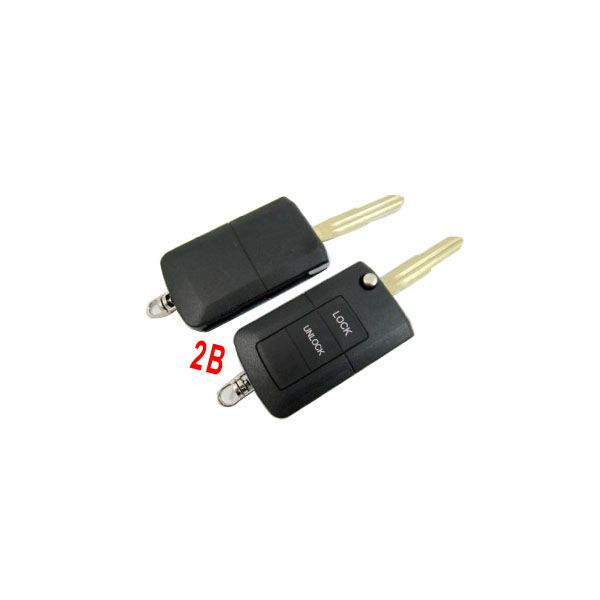 Modified Flip Remote Key Shell 2 Button For Mitsubishi 5pcs/lot