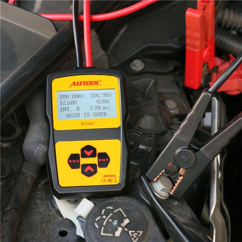 Original AUTOOL BT360  Battery Tester  with Portable Design