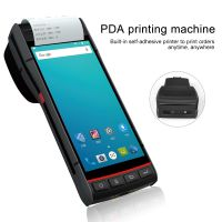 5.5 Inch PDA Priting Machine PDA  Barcode Scanner NFC RFID Thermal Printer Handheld Terminal Android 8.1 Wifi Bluetooth For Logistic Warehouse
