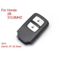 Remote Control Key 2Buttons 313.8MHZ (Black) for Honda Intelligent