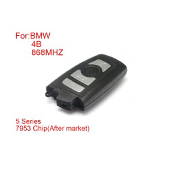 Remote Key 4 Buttons 868 mhz 7953 Chips Silver Side for BMW CAS4 F Platform 5 Series
