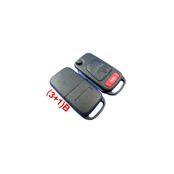 Remote Key Shell (3+1) Button for New Benz 5pcs/lot