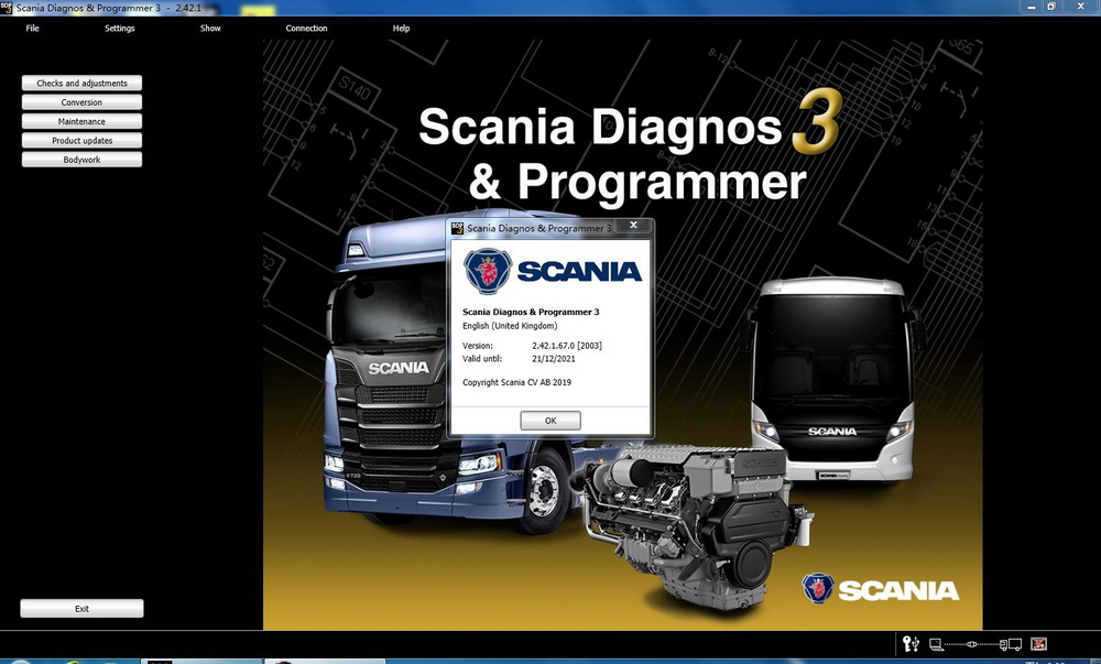 Scania SDP3 2.42 Diagnosis & Programming for VCI 3 VCI3 without Dongle