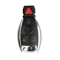 Smart Key Shell 4 Button with the Plastic for Mercedes Benz Assembling with VVDI BE Key Perfectly 5pcs/lot