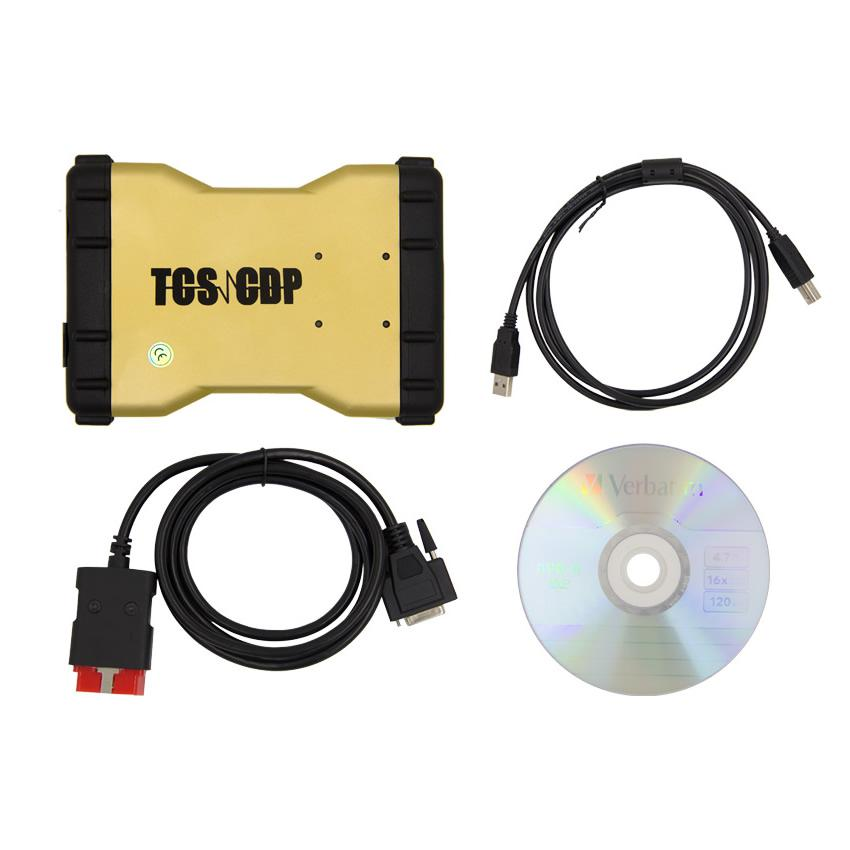 Promotion 2016.1 New TCS CDP+  Auto Diagnostic Tool Yellow Version Without Bluetooth