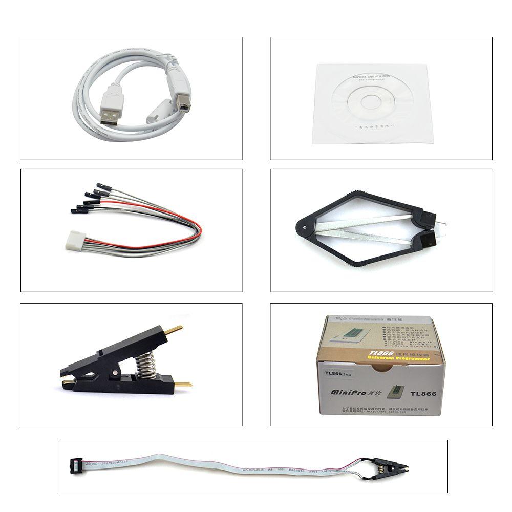 TL866II Plus USB High Performance Programmer Support 15000+IC SPI Flash  NAND EEPROM 8051 MCU PIC AVR GAL