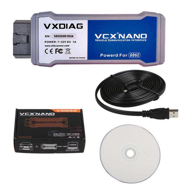 VXDIAG VCX NANO Multiple GDS2 and TIS2WEB Diagnostic/Programming System for GM/Opel