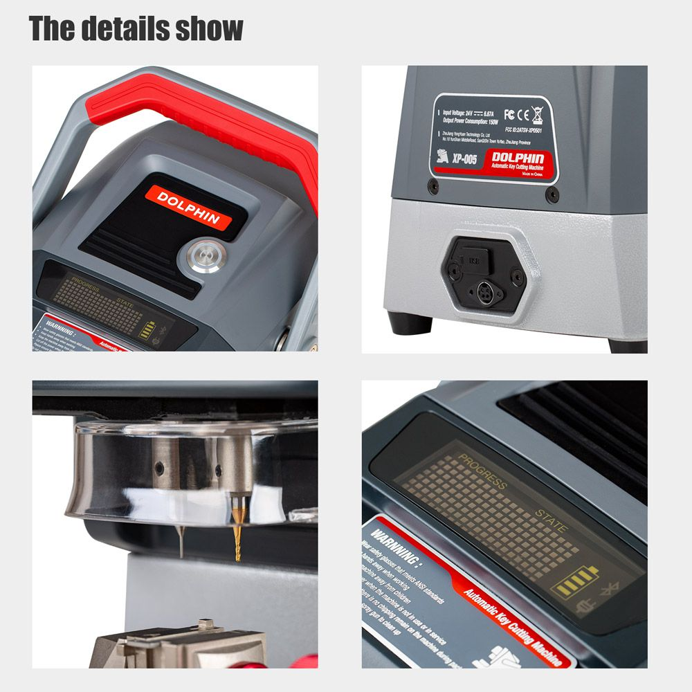 Xhorse Condor Dolphin XP005 Automatic Key Cutting Machine V1.2.3 Works on IOS & Android Via Bluetooth