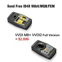 Xhorse VVDI MB Tool + VVDI2 Full Version including OBD48 + 96bit 48 Clone + MQB + BMW FEM/BDC