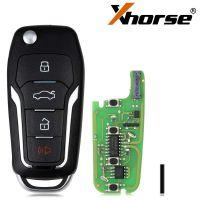 Xhorse XEFO01EN Super Remote Key Ford Flip 4 Buttons Built-in Super Chip English Version 5pcs/lot