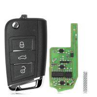 Xhorse XEMQB1EN Super Remote Key VW MQB 3 Buttons with Built-in Super Chip English Version 5pcs/lot