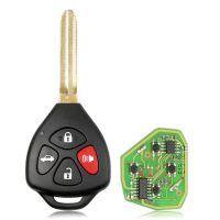 Xhorse XKTO02EN Wired Universal Remote Key Toyota Style Flat 4 Buttons for VVDI VVDI2 Key Tool 5pcs/lot