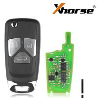 XHORSE XNAU01EN Audi Style Wireless VVDI Universal Flip Remote Key With 3/4 Button 5pcs/lot