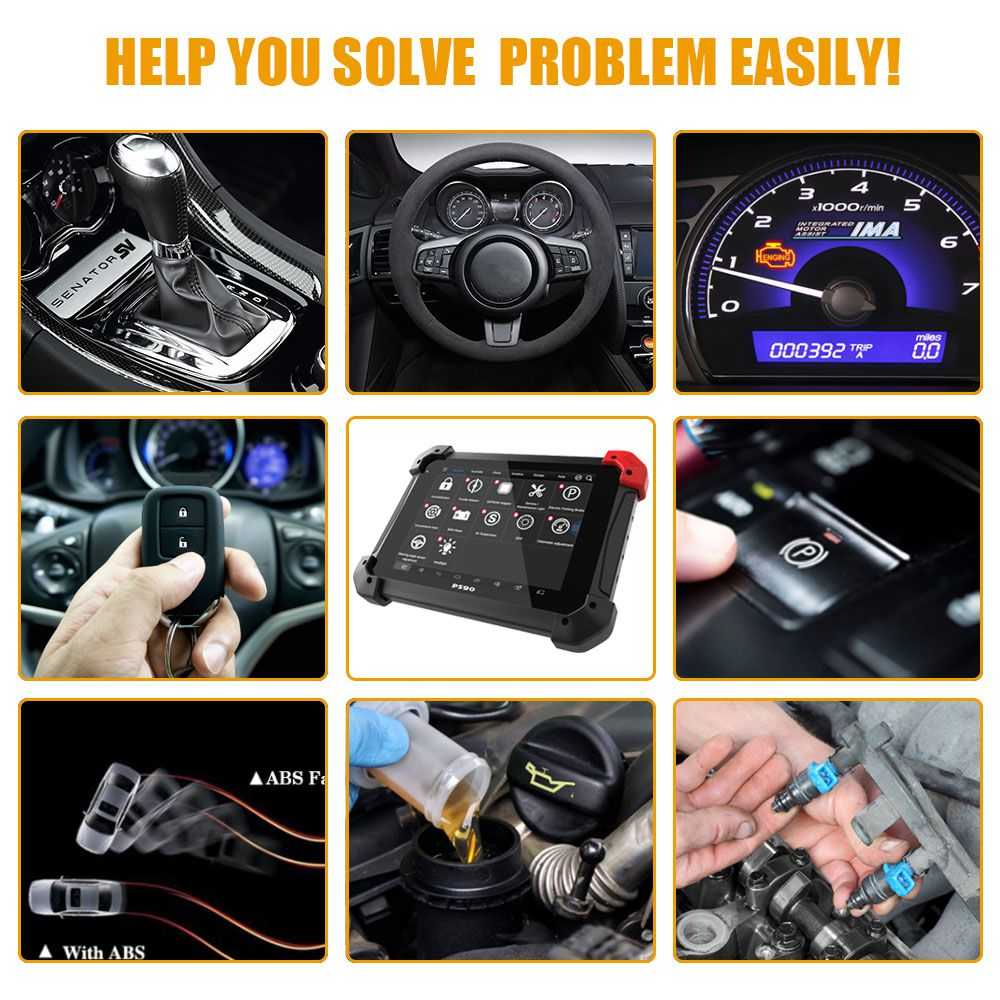 XTOOL PS90 PRO Car and Truck Diagnosis System Support Special Functions Free Update Online
