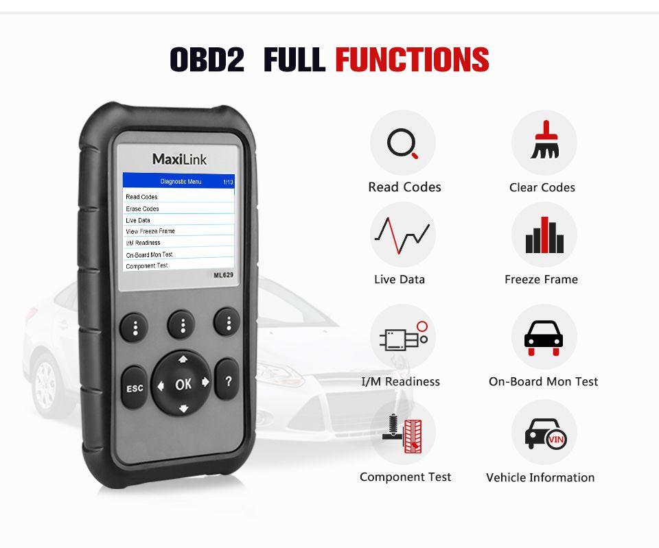 AUTEL MaxiLink ML629 OBD2 Code Reader