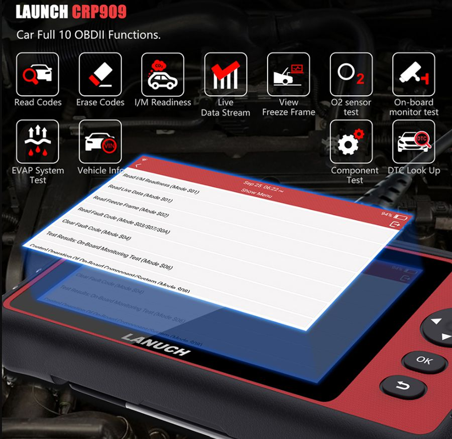 LAUNCH X431 CRP909 OBDII function