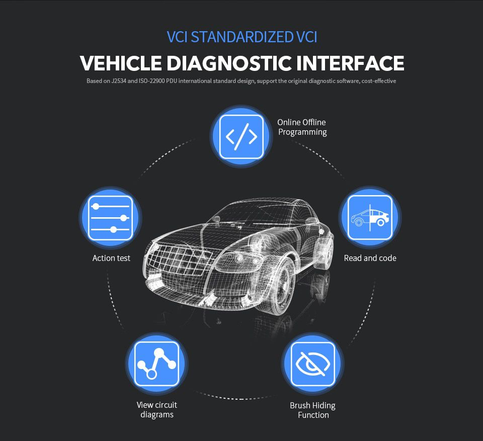 VXDIAG VCX NANO Multiple GDS2 and TIS2WEB Diagnostic